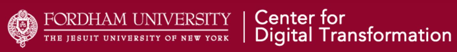 Fordham University's Center for Digital Transformation